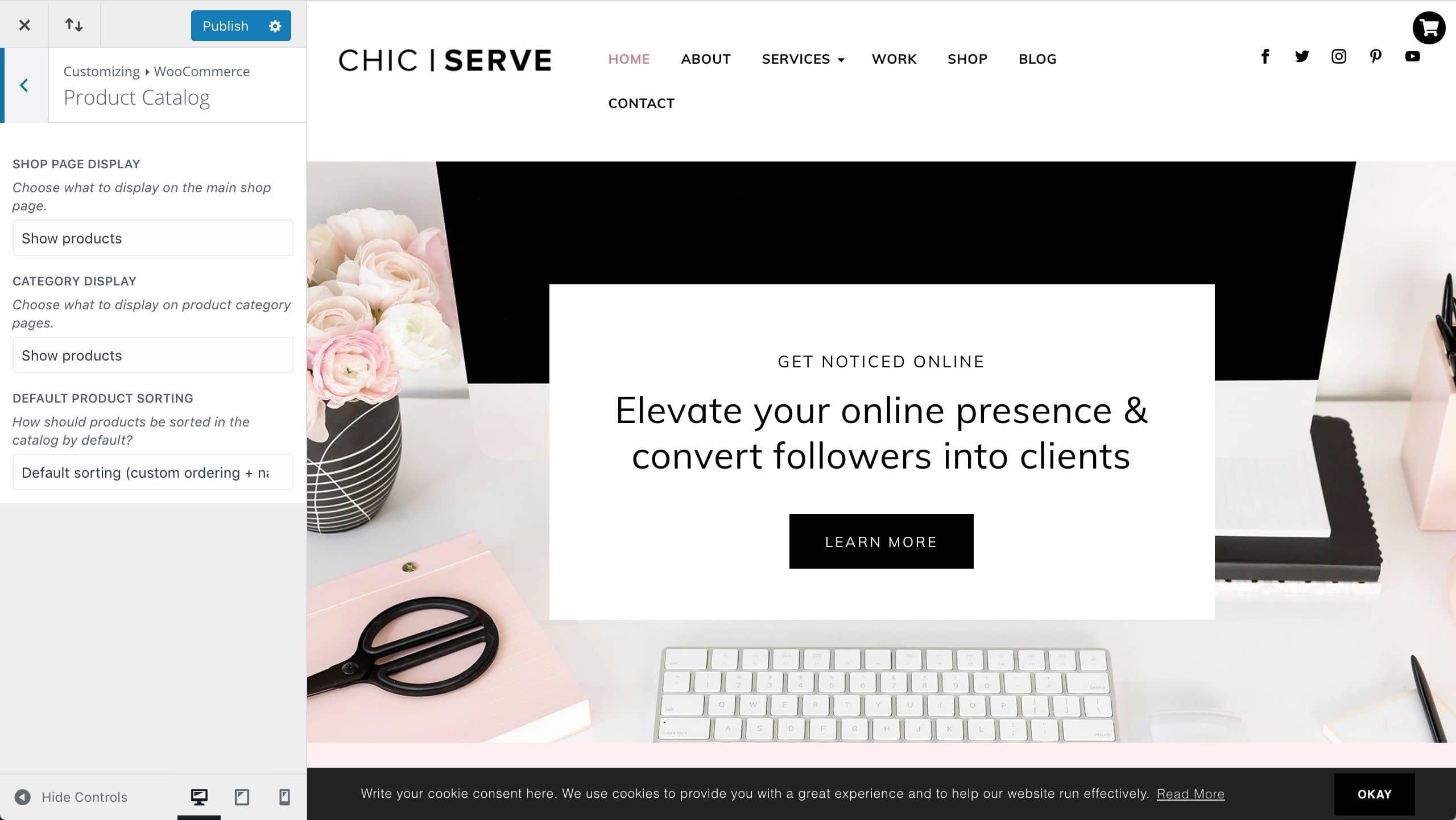 Divi ChicServe WooCommerce catalog setup