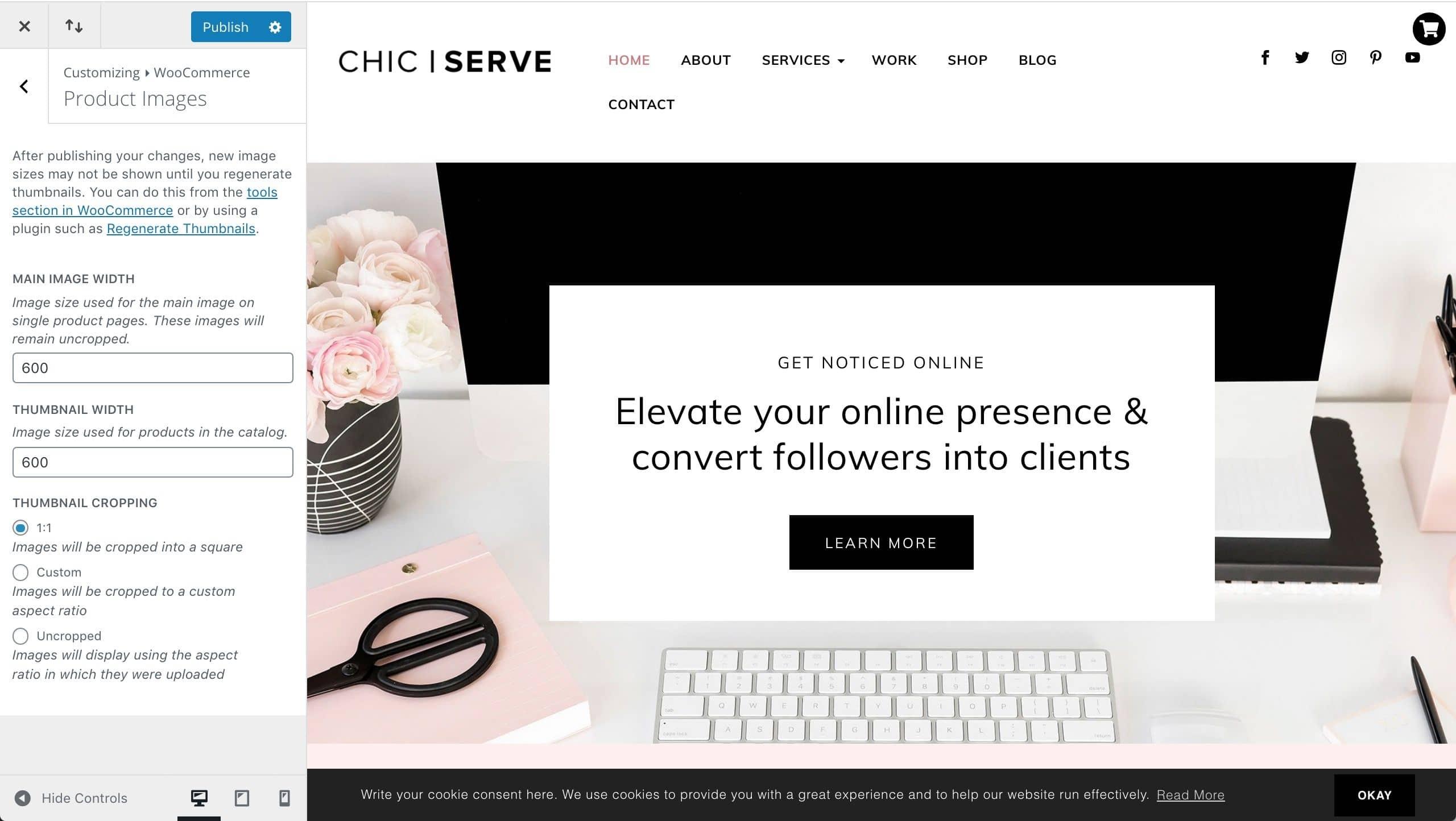 Divi ChicServe WooCommerce product images setup